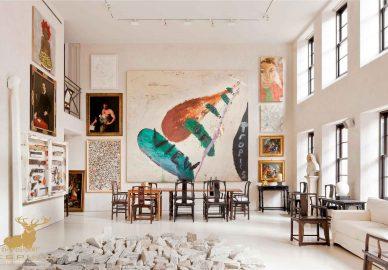 استفاده از عکس ها و نقاشیها در دکوراسیون داخلی نشیمن